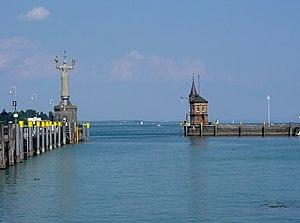 Konstanzer Hafen mit Statue der Imperia