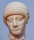 Kouros' Head, Acropolis' museum, Athens.jpg