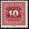 Krakow 1919 10hal postage due.jpg