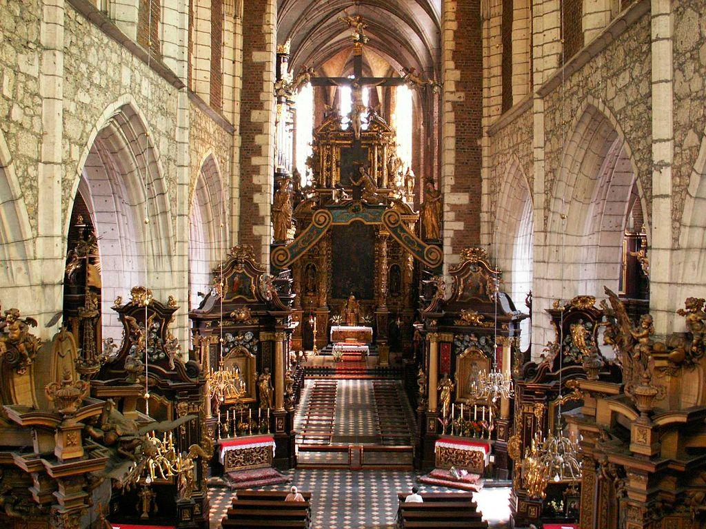 Intérieur de la basilique Corpus Santi à Cracovie.