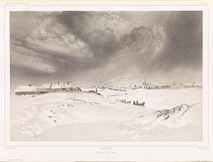 Battle of Krasnoi - Vue de Krasnoe (1840) Print by Barthélemy Lauvergne