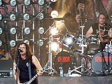 Kreator performing on the Ronnie James Dio Stage at Bloodstock Open Air 2011