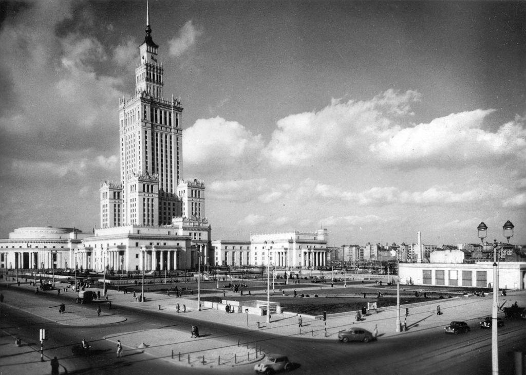 Palazzo della Cultura e della Scienza a Varsavia in 1957.