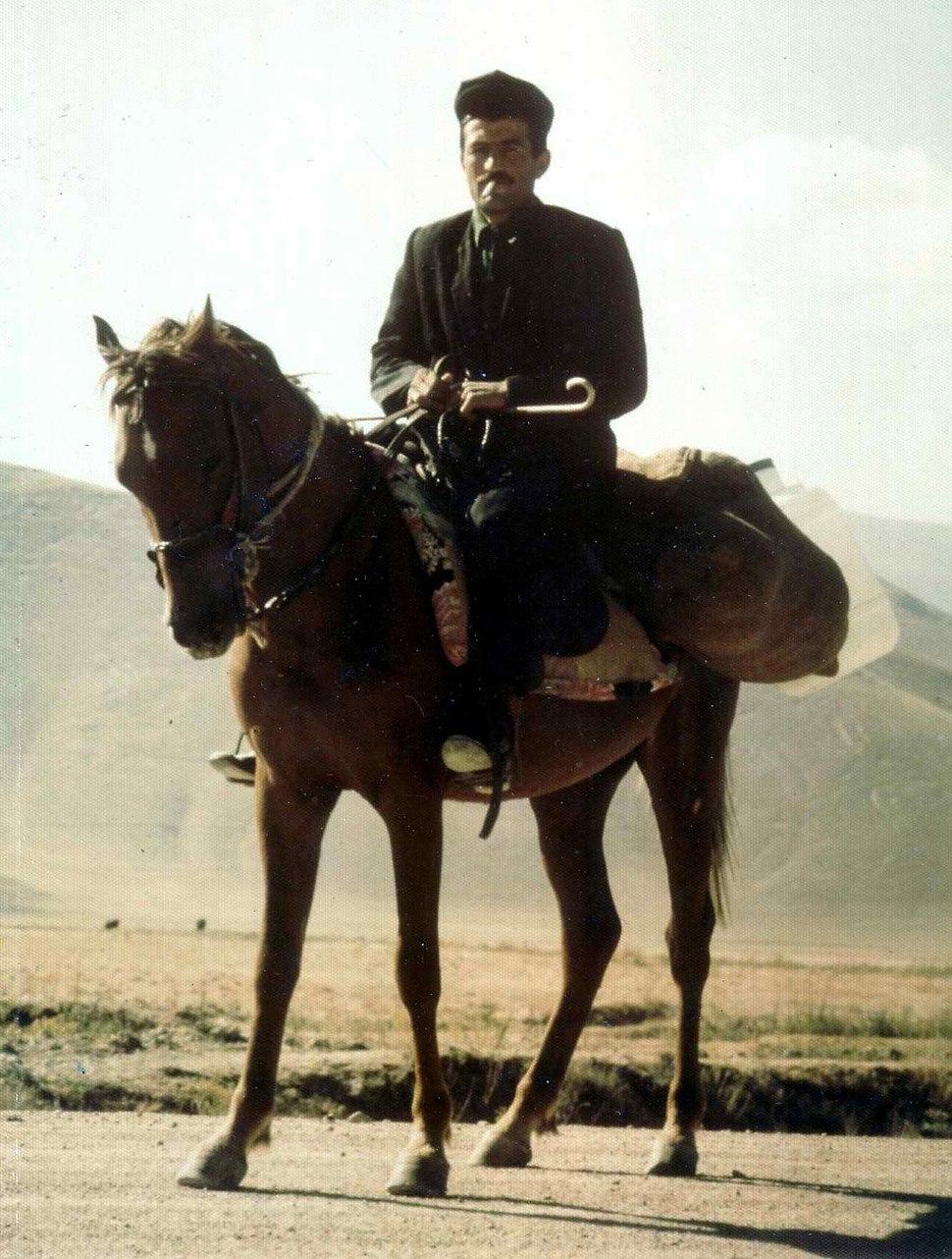 Kurdish man on horseback 1974