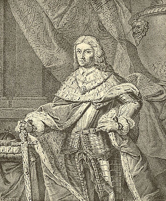 Frederick I, Elector Palatine - Frederick I the Victorious in a baroque engraving