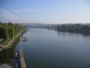 Route du Vin Half Marathon - The Moselle River, which the race course is set alongside