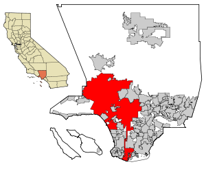 LA County Incorporated Areas Los Angeles highlighted.svg
