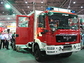 Firefighting group vehicle 20 for disaster control