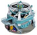 LSST Telescope design LsstVertModel-full.jpg