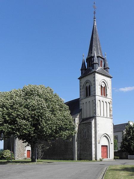 Église Saint-Pierre de La Haie-Traversaine (53).