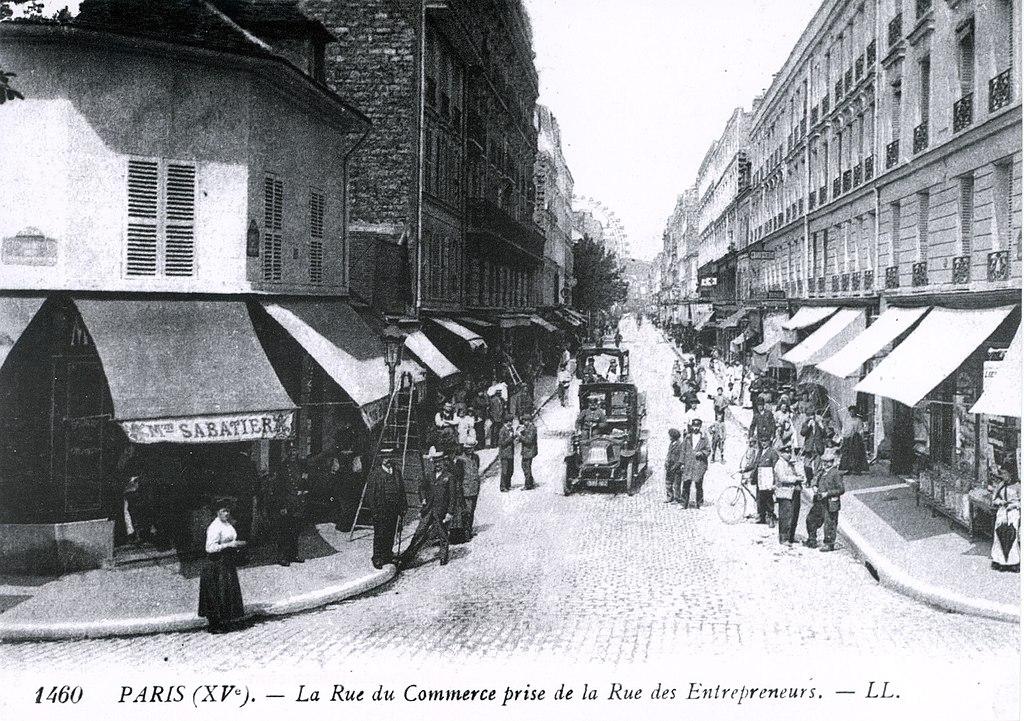 File la rue du commerce prise de la rue des wikimedia com - Rue du commerce literie ...