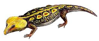 Captorhinidae - Life restoration of Labidosaurus hamatus