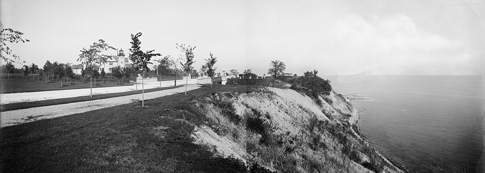 Lake park milwaukee circa 1890 panorama