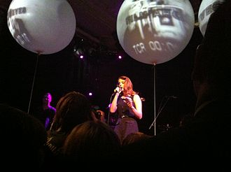 """Video Games (song) - Del Rey performing """"Video Games"""" during a concert held in Amsterdam in November 2011"""