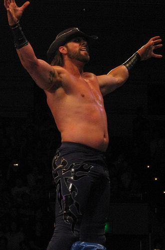 Lance Hoyt - Archer during a tour with New Japan