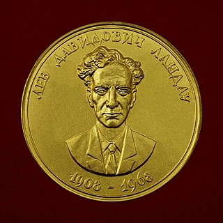 Landau Gold Medal Physics award of the Russian Academy of sciences