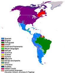 Americas Wikipedia - North and south america map
