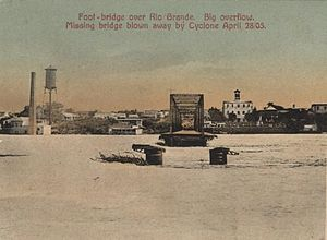 Gateway to the Americas International Bridge - Laredo Foot Bridge Destroyed in 1905