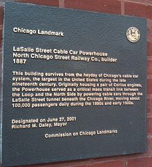 LaSalle Street Cable Car Powerhouse (Chicago) - Wikipedia