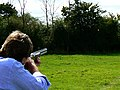 Laser clay shooting, Cricklade Show, Cricklade - geograph.org.uk - 537404.jpg