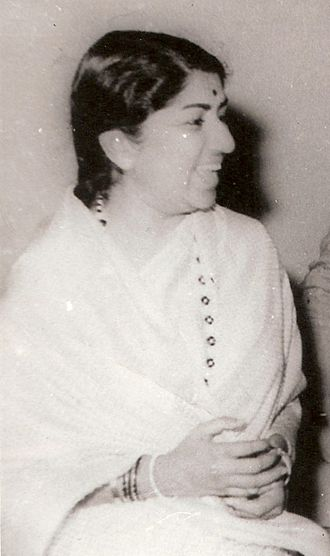 Lata Mangeshkar - Mangeshkar as a young woman