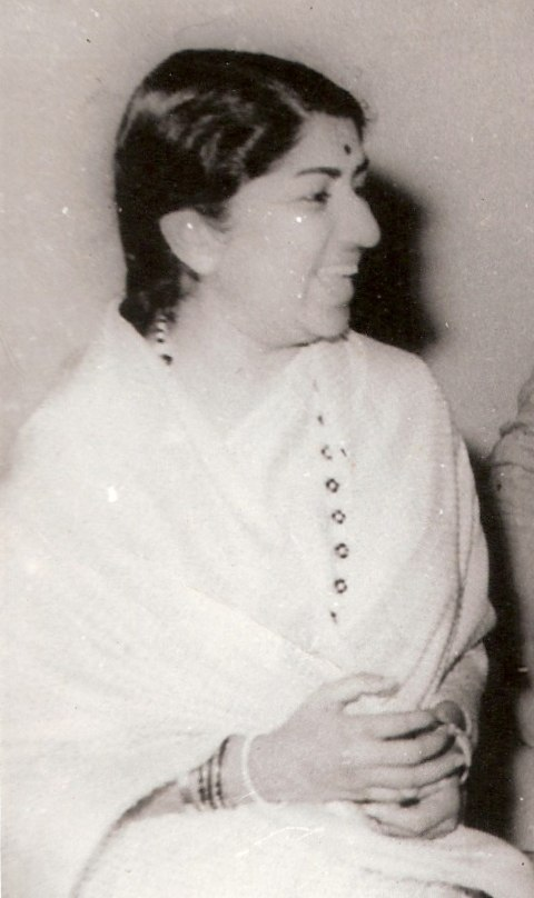 Lata Mangeshkar black-and-white