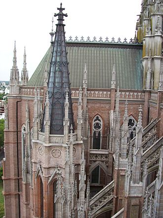 Cathedral of La Plata - Image: Lateral de la Catedral de La Plata desde la Torre de Jesús 3
