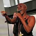 Laura Mvula performing at the -SheWill event for Global Citizen at The View From the Shard, London, 7 July 2016 (cropped).jpg