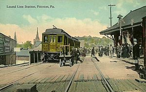Lackawanna and Wyoming Valley Railroad - Pittston depot c. 1912