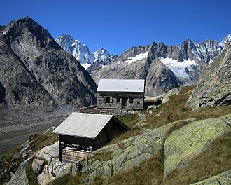 Jungfrau-Aletsch protected area - The valley of the Unteraar Glacier