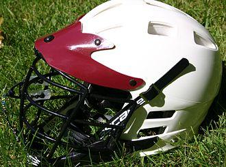 Lacrosse helmet - A typical lacrosse helmet
