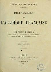 Le dictionnaire de l'Academie françoise, 1878, T2, I-Z.djvu