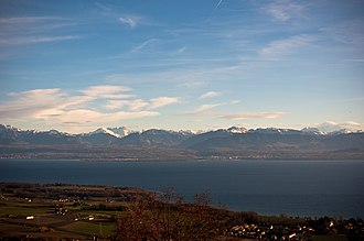 Rolle - Lake Geneva and the Alps from Rolle