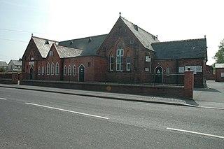 Leeswood village in United Kingdom