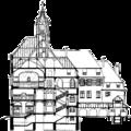 Lehrerseminar Backnang Schnitt Haupttreppe (1910) Zentralblatt Abbildung 7.png