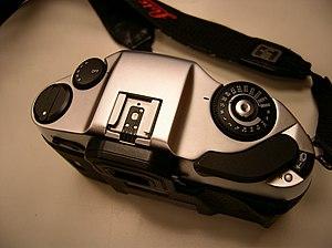 Leica R8-R9 - Top view.