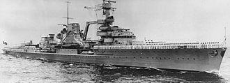 Leipzig-class cruiser - Leipzig circa 1936