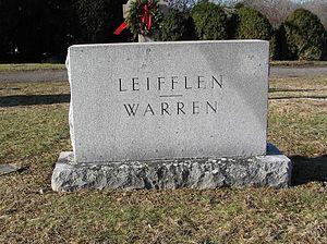 Leonard Warren - Warren's gravesite in Saint Mary's Cemetery