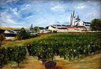 Les vendanges au Puy-Notre-Dame peint en 2004.jpg