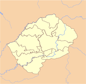Mokhotlong is located in Lesotho
