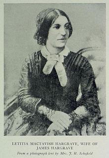 Letitia MacTavish Hargrave