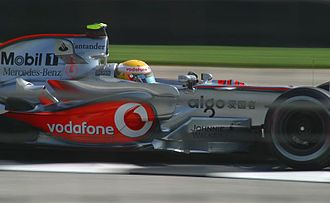 2007 United States Grand Prix - Hamilton on his way to victory in the McLaren MP4-22.