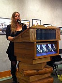 Lidia Yuknavitch at Powell's, Best Sex Writing 2012.jpg