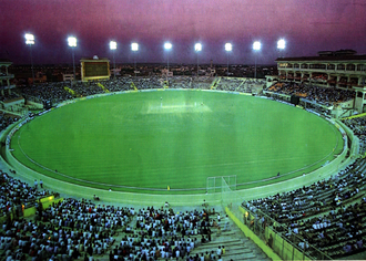 PCA Stadium under lights at Mohali LightsMohali.png