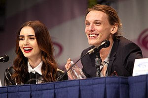 The Mortal Instruments: City of Bones - Lily Collins and Jamie Campbell Bower