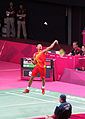 Lin Dan Returns The Shuttlecock (7758849992).jpg