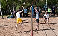 Lithuanian soldiers and U.S. Soldiers with U.S. Army Europe compete in a volleyball tournament during a cultural day in Pabrade, Lithuania, June 8, 2013, during exercise Saber Strike 2013 130608-A-HW973-004.jpg