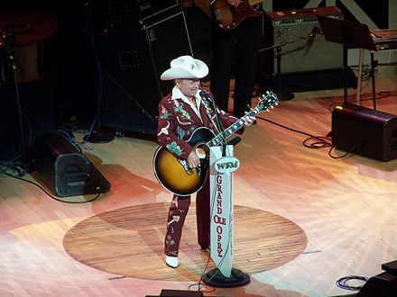 Dickens at the Grand Ole Opry in 2004 Little Jimmy Dickens.jpg