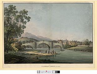 Llanroost Bridge. Merionethshire