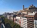 Lleida - rambla Ferran i Turó de la Seu Vella.jpg